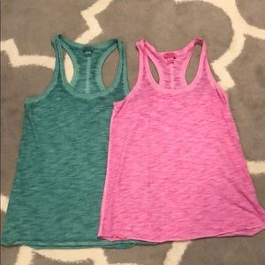 NWOT Set of 2 Mossimo Racerback Tanks Size Small